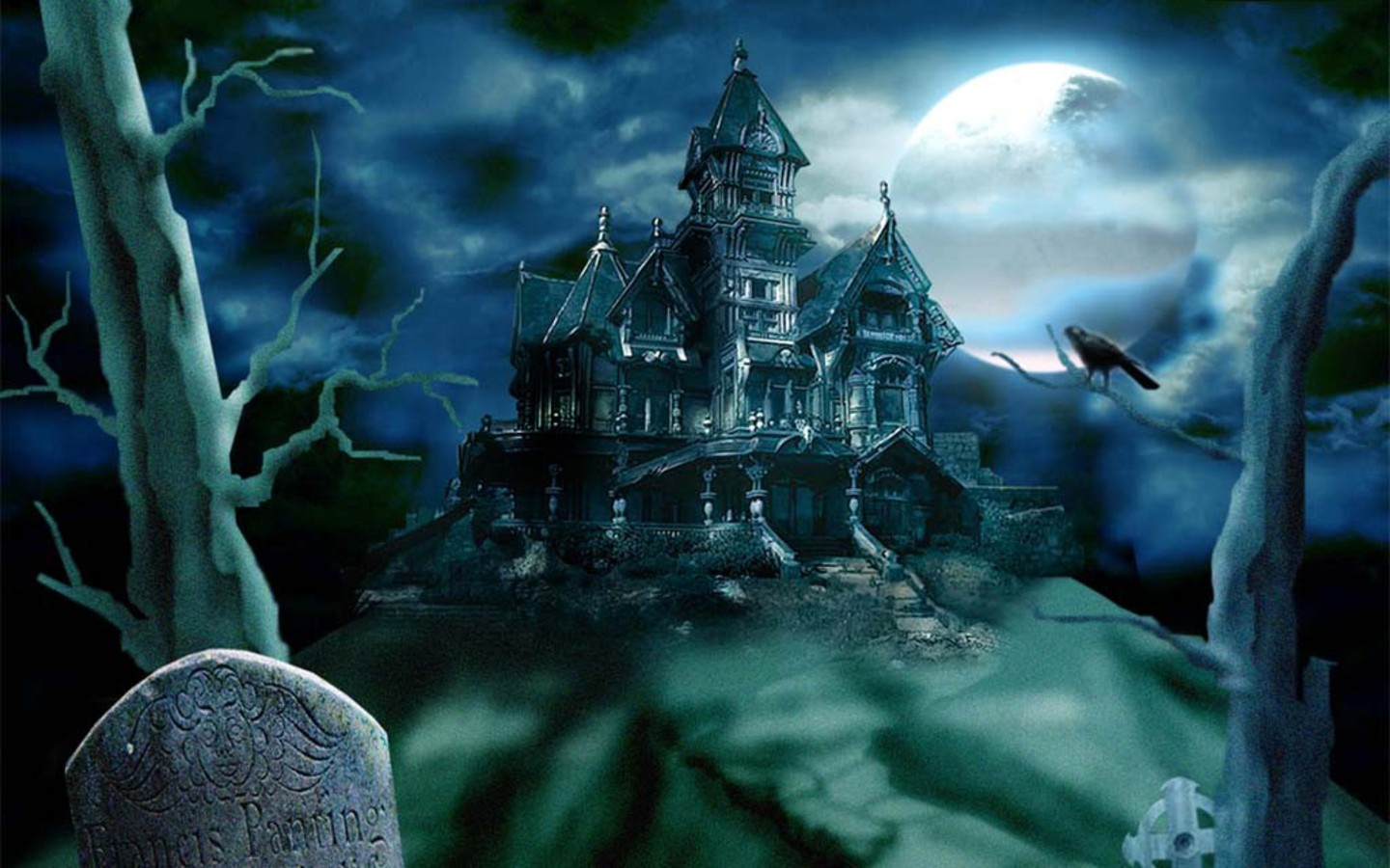 wallpaper creative: horror ghost houses hq1440x900 wallpapers