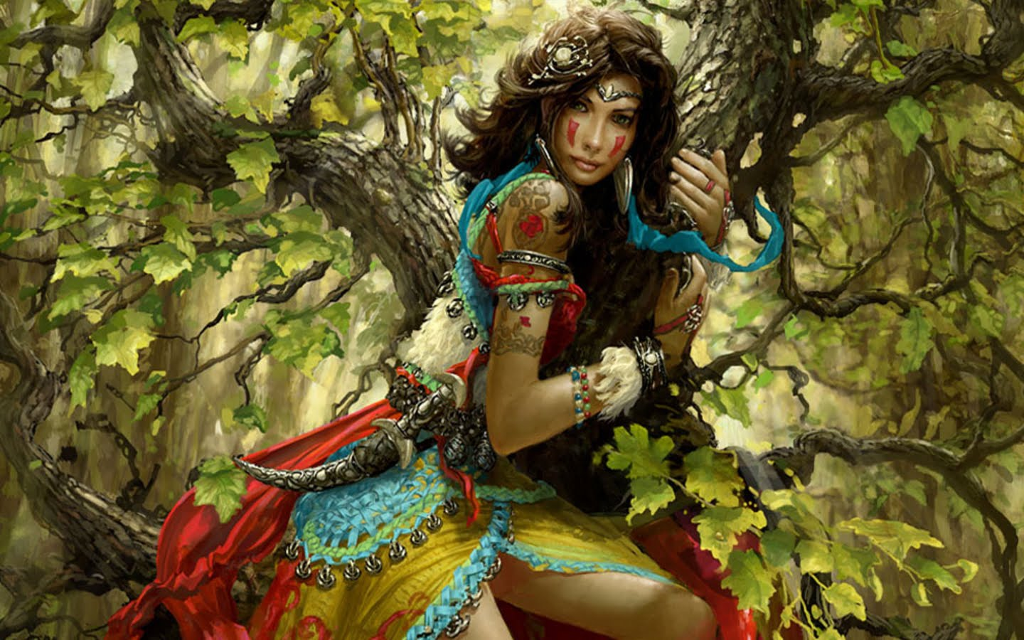 Wallpapers fantasy women warrior in love fantasy women beautiful face