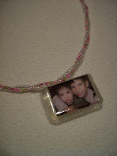 My resin photo necklace of the boys