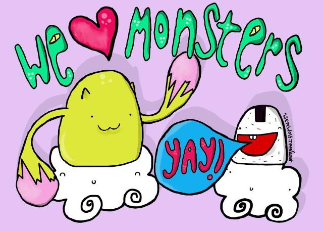 we <3 monsters