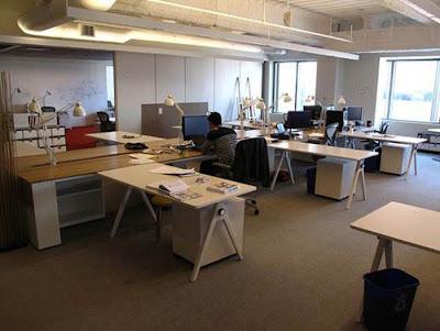 Modern office interior design microsoft startup labs for Interior design startup