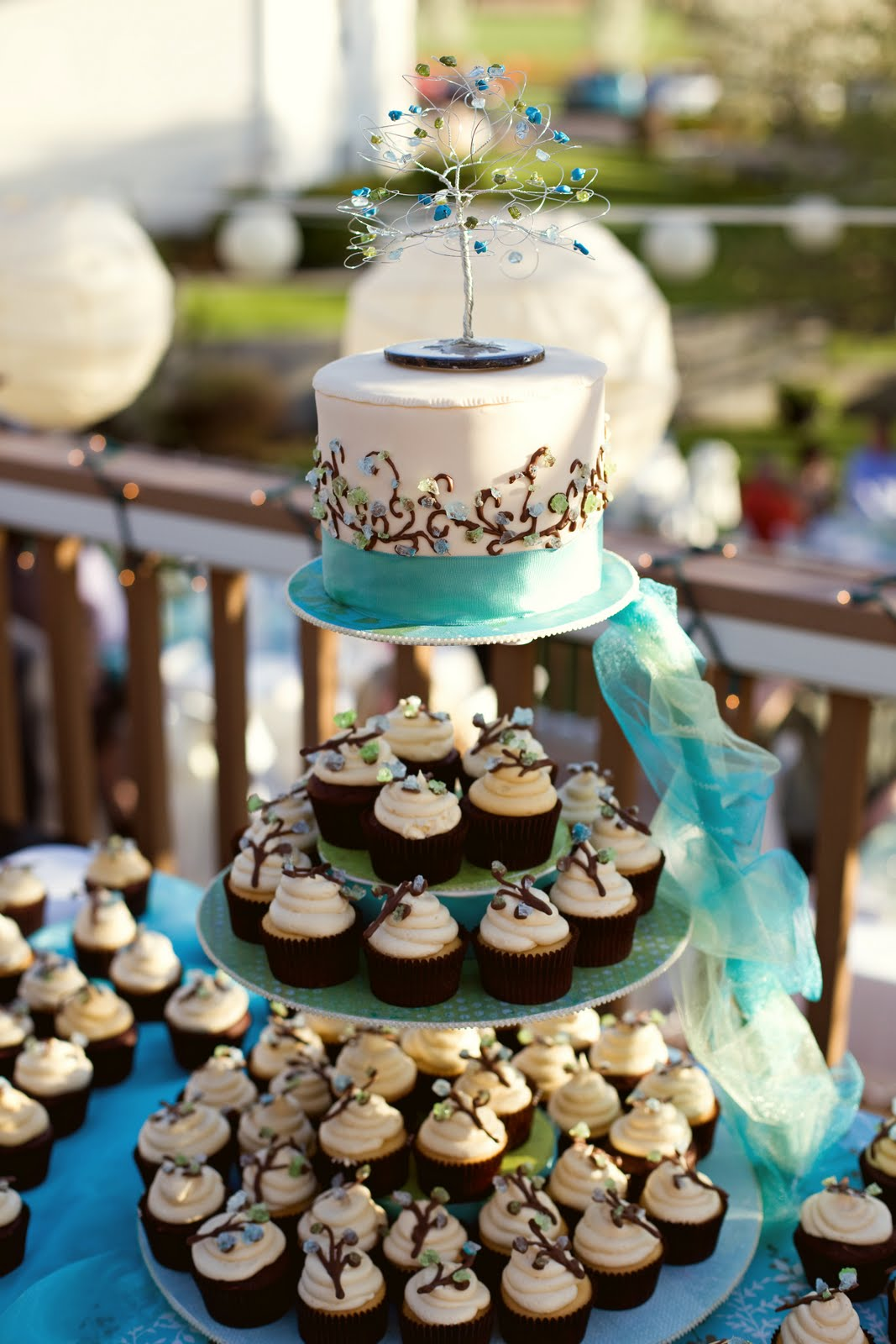 Sweet Elegance Summer Cupcake Display