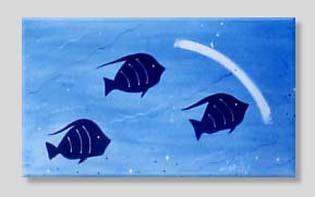 pintura Burity - série peixes Maraú