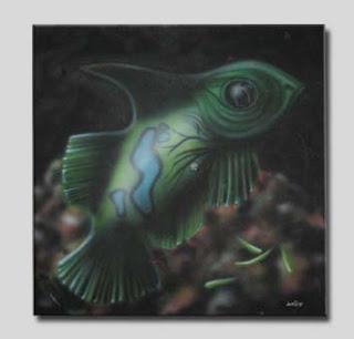 pintura - aerógrafo - acrílica sobre tela