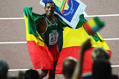 Kennenisa Bekele at Osaka, Japan