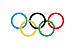 The 5 Olympic Rings: Blue, Yellow, Balck, Green and Red