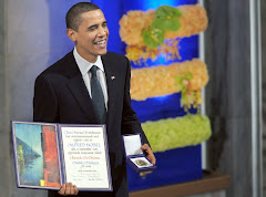 Presdient Obama with his Nobel Peace Prize