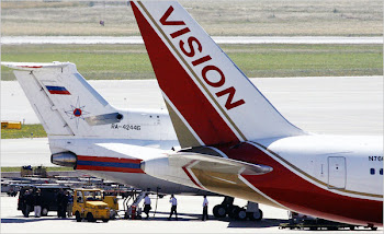 Russian Vision and US Airforce Planes at Vienna, Exchanging Spies 09 July 2010