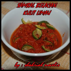 SAMBAL BELACAN KULIT LIMAU