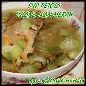 SUP PETOLA TULANG IKAN MERAH MASIN
