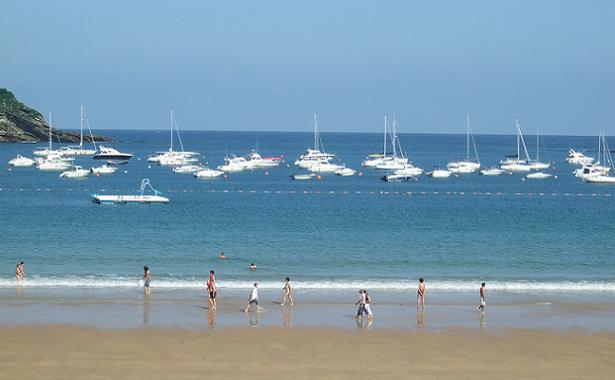 La Concha beach at Donostia-San Sebastin