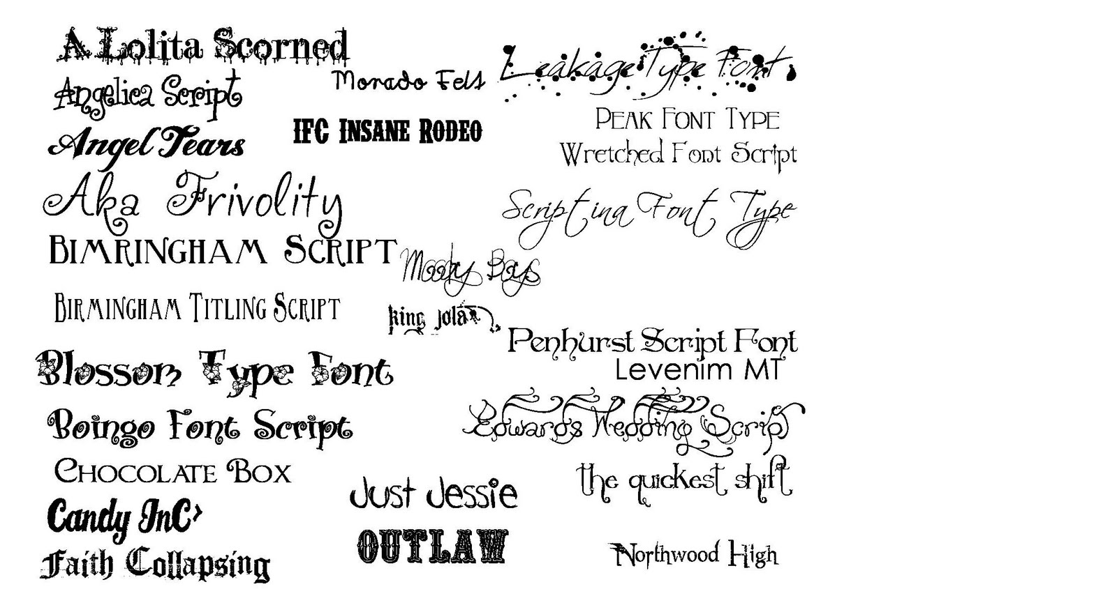 These are the newest fonts i have available as of april 2010 to
