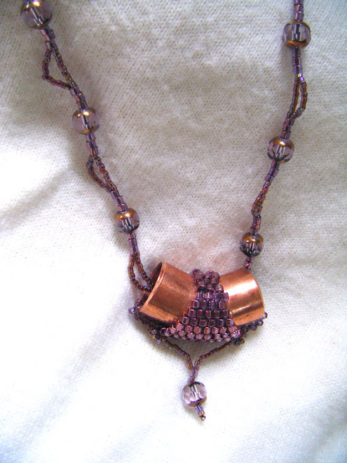 Lovely Purples on Copper Pendant