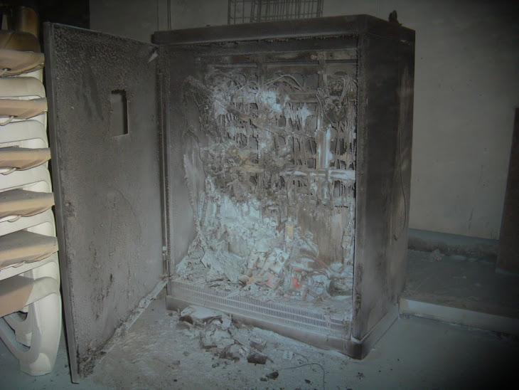 Incendio en un modulo de batería de condensadores by PuntaLanza