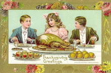 Thanksgiving Greetings 1908 postcard by B. Hofmann