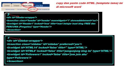 tukar template baru blog anda tanpa hilangkan widget @ gadget yang telah sedia ada pada blog lama