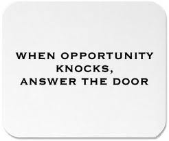 opportunity knocks once essay Essay exzerpt opportunity knocks but once essay and the guy who sees women as only things to screw is, himself, merely a thing whose purpose is to screw.