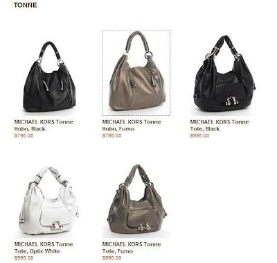 Michael Kors Tonne handbag collection