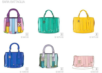 Sara Battaglia Acheora Straps Bags