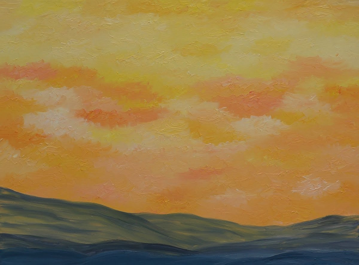 Easy landscape paintings cake ideas and designs for Simple scenery paintings