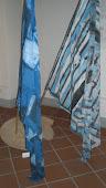 BANDIERE,2010- terracotta,seta,acrilici,legno