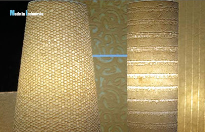 Indonesia Handicraft ornamen lamp from tree fiber