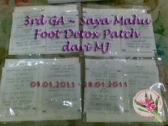 3rd GA~Saya Mahu Foot Detox Patch dari MJ