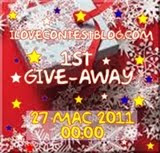 end 270311 @ 300 follower @ i♥contestblog 1st GiveAway