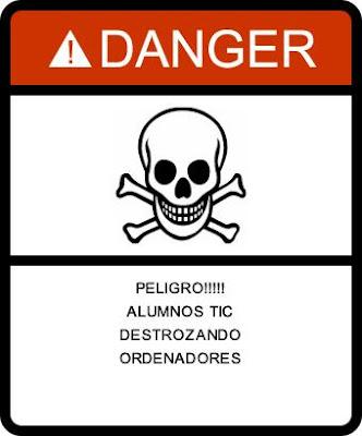 Placa de peligro personalizada