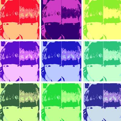 Resultado de mi avatar con Warholizer, en 9 cuadros