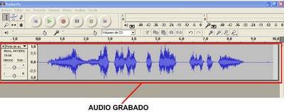 Grabado de audio de Audacity