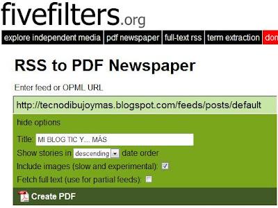 Cómo rellenar tu blog en pantalla