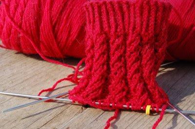 Red sock, cuff