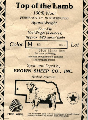 Brown Sheep Farm Label