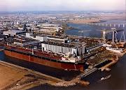 Supepetrolero ULCC  Prairial en su dock de construccion, ya listo.