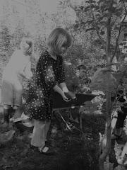 Rowan at tree planting