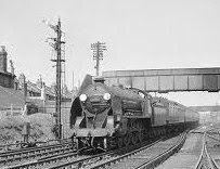 KIng Arthur class locomoive, Sir Guy, passes Fratton
