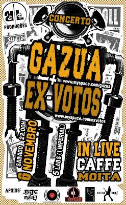 Gazua + Ex Votos @ In Live Caffé (Moita)