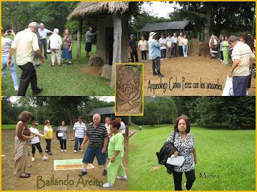 Abuelos Visitan Plaza Ceremonial  Taina