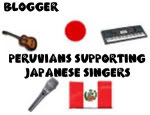 Peruvians supporting japanese singers