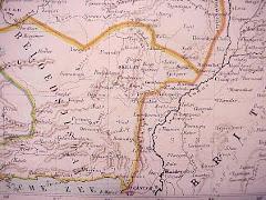 عام 1880 خريطة بلوشستان الشرقية