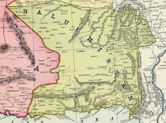 1897عام خريطة بلوشستان الشرقية بعد التقسيم البريطاني- الفارسي