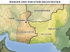 خريطة بلوشستان المحتلة في الوقت الحاضر