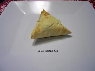 Enjoy Indian Food Phyllo Dough Samosa