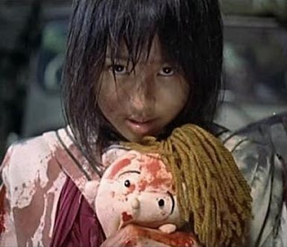 Battle Royale doll creepy asian Japangirl bloody