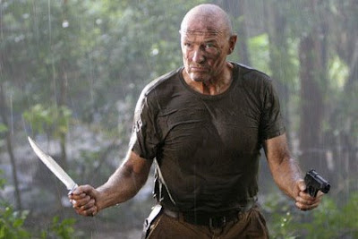 John Locke Lost Terry O'Quinn knife gun dual wielding island