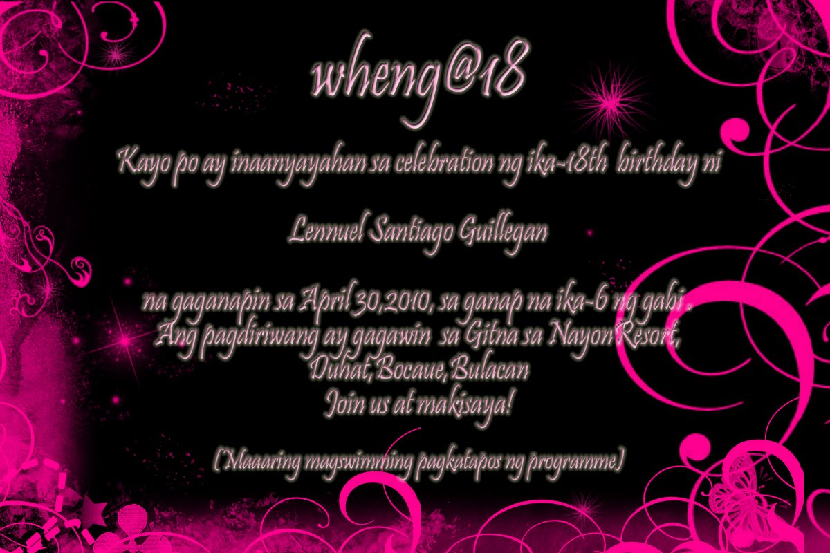 18Th Birthday Debut Invitation Messages http://euro-avalanche.com/oa/ab-yiowj.html
