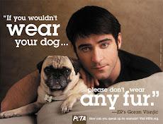 El galán de ER Goran Visnjic apoya  campaña de PETA contra las pieles