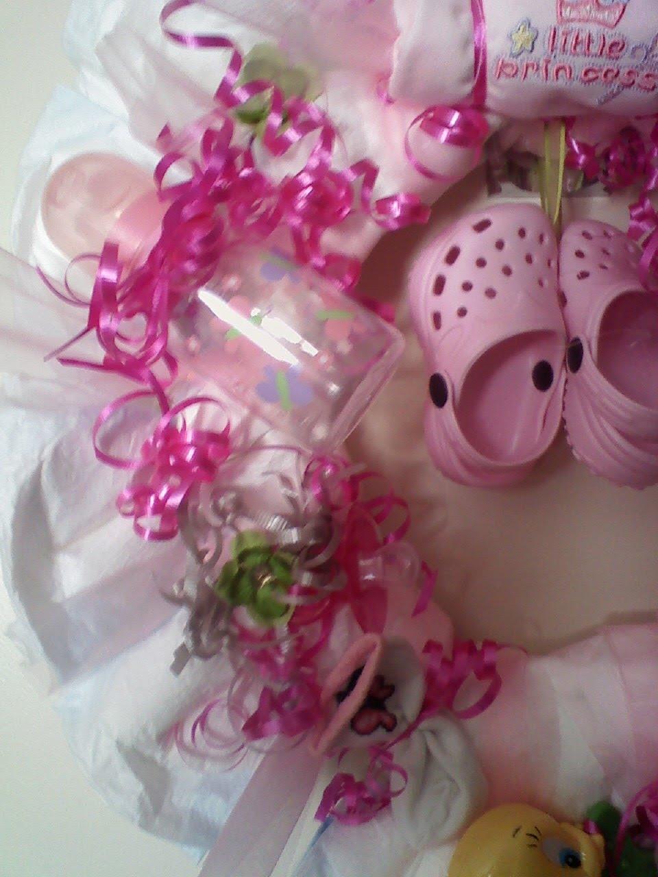 landjfamily5 baby shower wreath