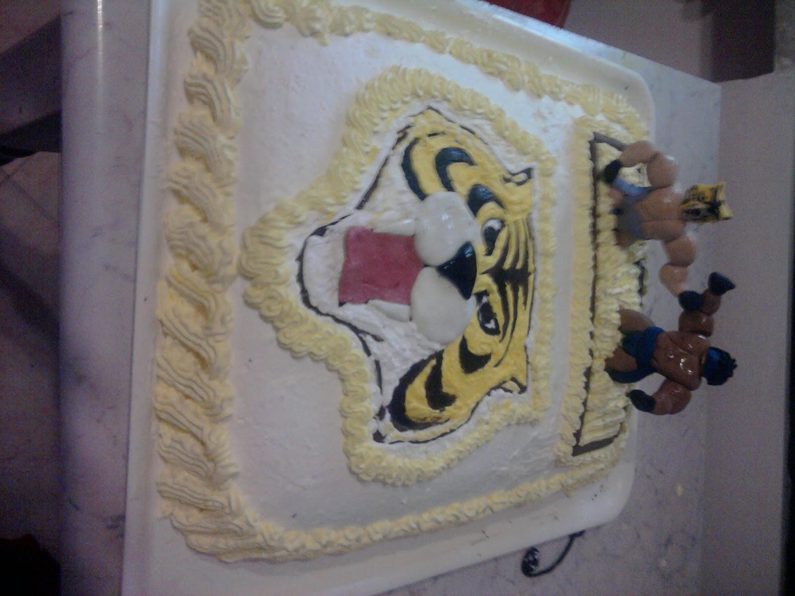 My sweet house torta uomo tigre
